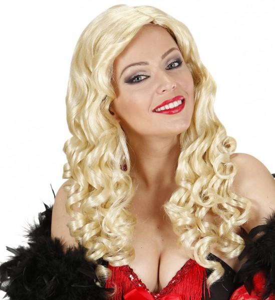 Lange Lockige Haare Jessica Perücke ° Blond
