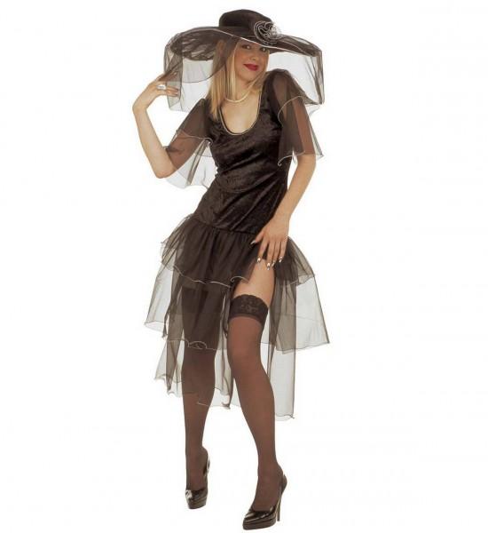Fröhliche Witwe ° Kleid und Hut mit Schleiern