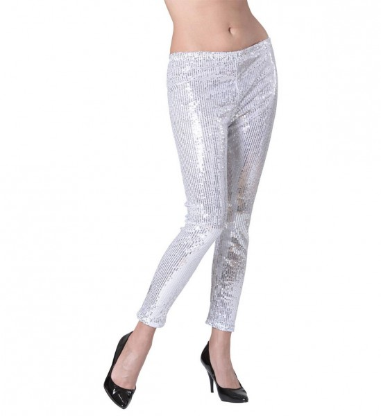 Paillettenleggings ° Silber