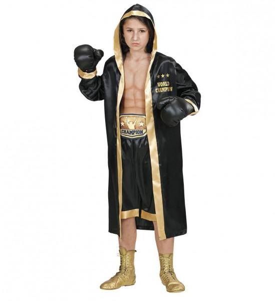 Boxer World Champion ° Boxermantel mit Kapuze, Shorts, Gürtel, Boxhandschuhe