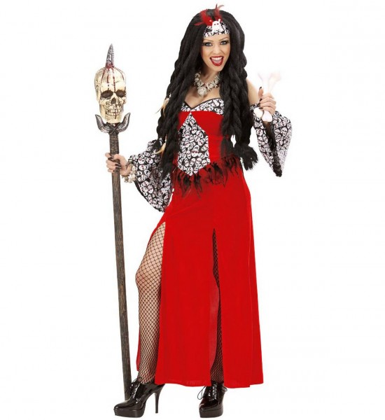 Voodoo Priesterin ° Kleid, Ärmel,Kopfbedeckung