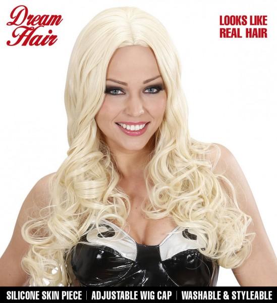 Langes Gewelltes Haar Perücke Gisele ° Blond