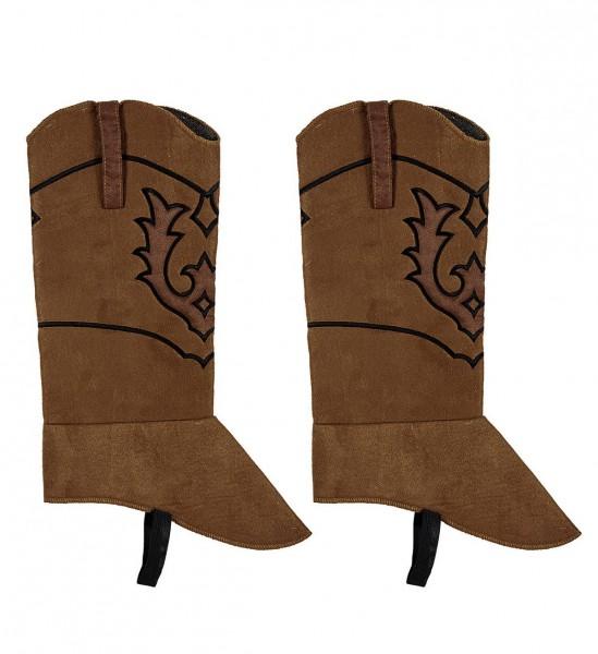 Cowboystiefel Schuhüberzieher in Wildlederoptik