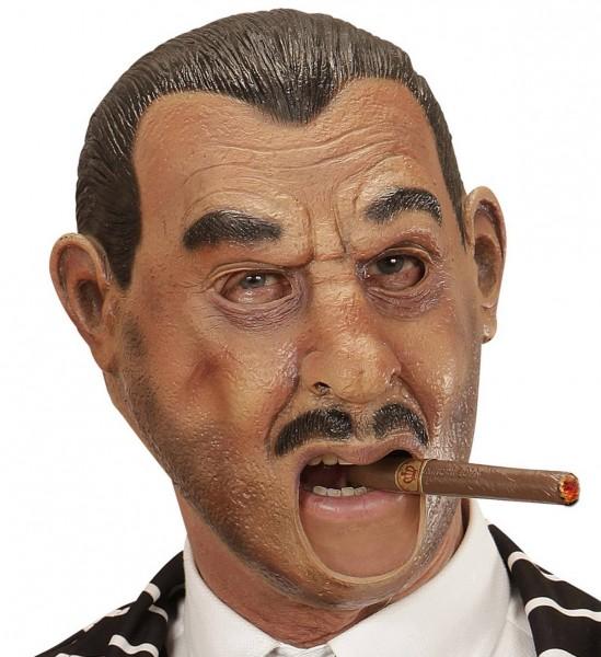 3/4 Maske Gangster mit Offenem Mund