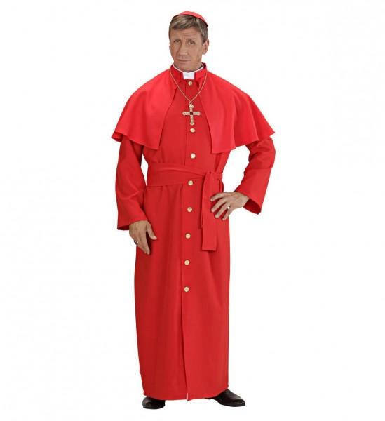 Roter Kardinal ° Tunika, Pelerine, Gürtel, Kalotte
