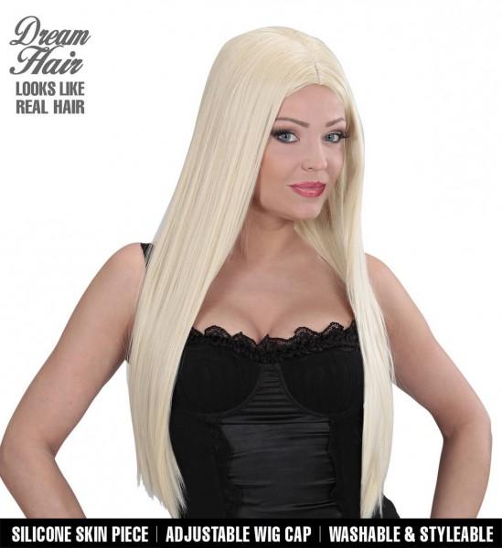 Glatte Lange Haare mit Mittelscheitel Perücke Dreamhair Charlene ° Blond