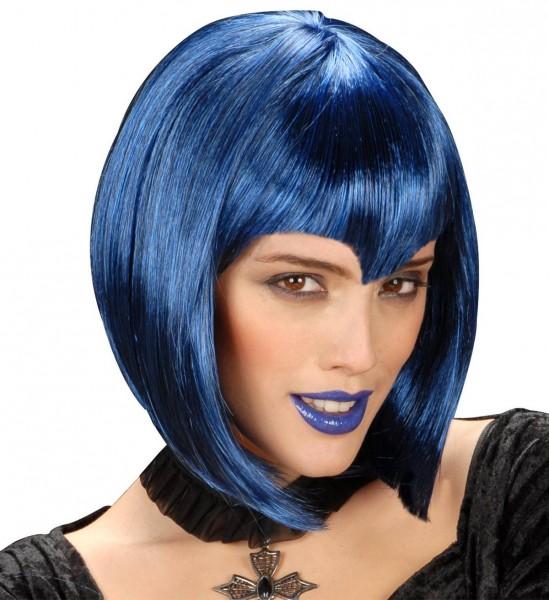 Perücke Gothic Vamp ° Blau