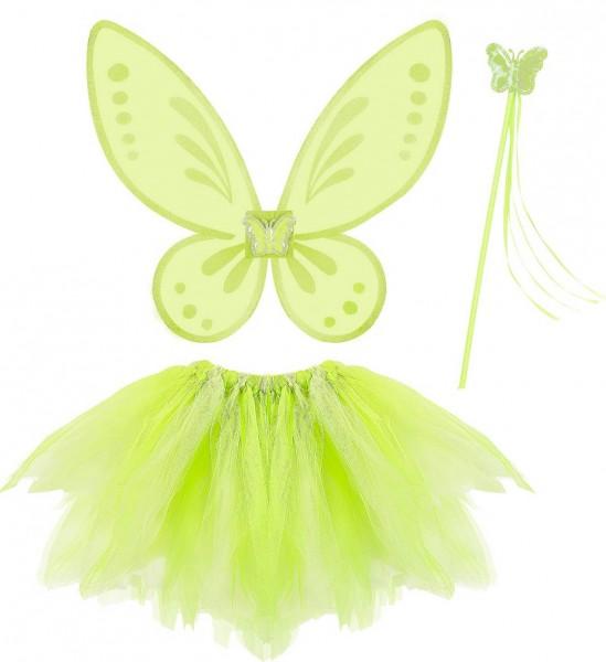 Magic Fairy ° Tütü, Flügel, Feenstab ° Grün