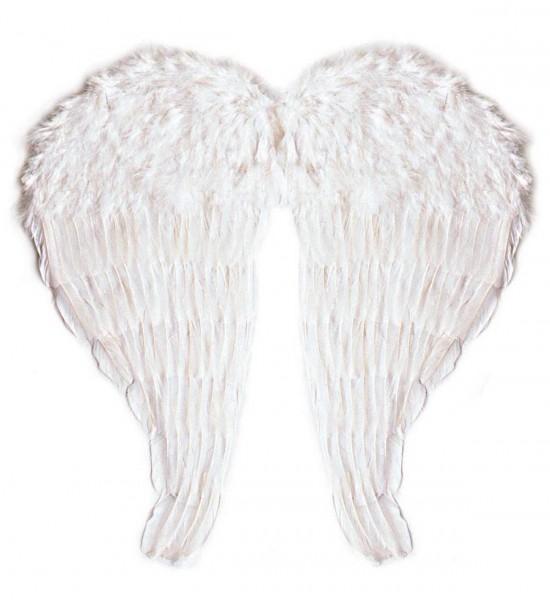 Maxi Flügel aus modellierbaren Federn ° Weiß ° 67x64 cm