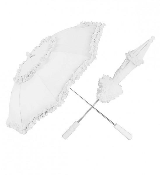 Regenschirm Belle Epoque Ø ca. 72 cm ° Weiß