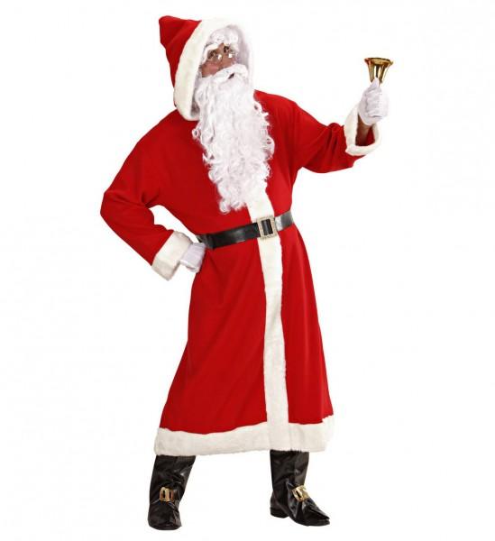 Luxus Weihnachtsmann aus der alten Zeit ° Mantel mit Kapuze, Gürtel,Stiefelüberzieher mit Schnallen,