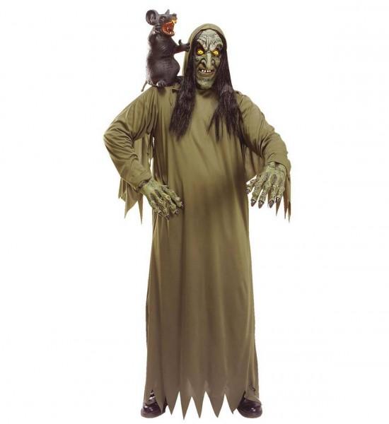 Hexe ° Maske mit Kapuze, Kostüm, Hände ° OneSize
