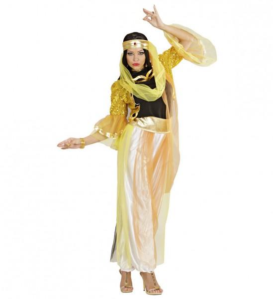 Haremtänzerin ° Bluse, Paillettenjacke, Hose mit Schleiern, Gürtel, Kopfbedeckung mit Schleiern